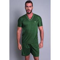 Pijama Mvb Modas Curto Verão Masculino - Masculino-Verde