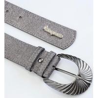 Cinto Prata Com Fivela De Metal Plus Size