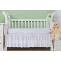 Saia Para Berço Baby Franzida 233 Fios Branco Plumasul