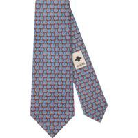 Gucci Gravata Monogramada - Azul