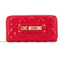 Love Moschino Logo Quilted Wallet - Rosa