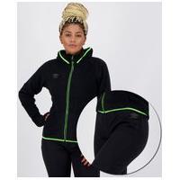Agasalho Umbro Core Twister Feminino Preto E Verde