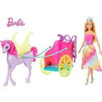 Boneca Barbie - Barbie Dreamtopia - Princesa Com Carruagem - Mattel