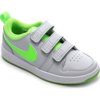 Tênis Infantil Nike Pico Velcro - Masculino-Cinza+Verde