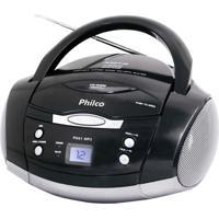 Som Portátil Ph61 Rádio Fm Estério Cd-R/Rw Auxiliar Preto Philco Bivolt
