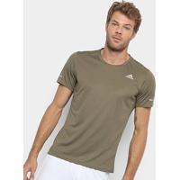 Camiseta Adidas Run Masculina - Masculino-Musgo