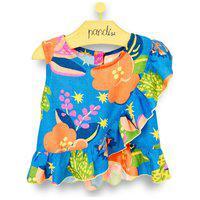 Blusa Infantil Pandi Blue Print Azul