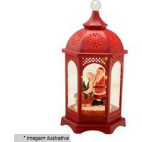 Lanterna Natalina Musical- Vermelha & Branca- 40,5X2Mabruk