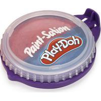 Conjunto De Artes - Play-Doh - Tinta Para Pintar - Pote 2 Em 1 - Rosa E Azul - Fun