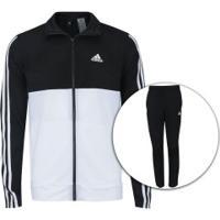 Agasalho Adidas Back2Bas 3S - Masculino - Preto/Branco