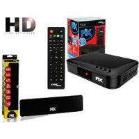 Conversor De Tv Digital Hdtv Filtro 4G Hdmi Pix Chipsce Sc-1001 + Antena Digital Hdtv Slim