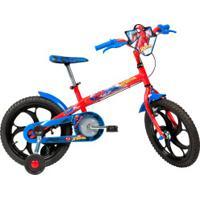 Bicicleta Caloi Homem Aranha - Aro 16 - Freio A Tambor - Masculina - Infantil - Vermelho/Azul