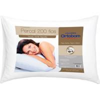 Travesseiro Percal 200 Fios Cor Branco - 43596 Sun House