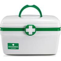 Caixa Organizadores De Remédios De Plástico Grande - Unissex-Verde