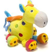 Chocalho De Pelucia Unik Toys Cavalo Amarelo