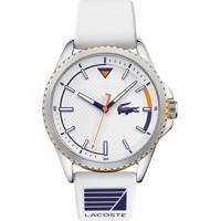 Relógio Lacoste Masculino Borracha Branca - 2011028