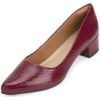 Sapato Salto Baixo Snake Aquarela Aq20-002 Vermelho