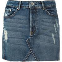Bo.Bô Saia Curta Jeans - Azul