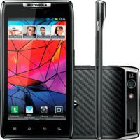"Smartphone Motorola Razr Preto Xt910 - 3G - Wi-Fi - 16Gb - Tela De 4.3""- 8Mp - Android 4.0 - Desbloqueado"
