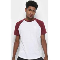 Camiseta Fila Sports Camo Raglan Masculina - Masculino-Branco+Vinho