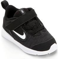 Tênis Infantil Nike Downshifter 9 Velcro Tdv - Unissex-Preto+Branco