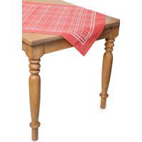 Toalha De Mesa Quadrada Lepper Decorativo Kã¡Tia 75 Cm X 75 Cm - Vermelho - Dafiti