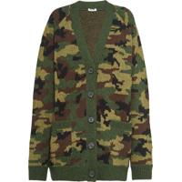 Miu Miu Camouflage Cardigan - Verde