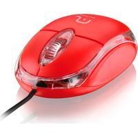 Mouse Óptico Classic 800Dpi Usb Vermelho Mo003 Multilaser