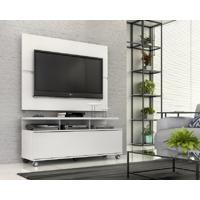 "Rack Com Painel Home Buzios 1,2 M Para Tv 48"" Branco Branco - Branco - Dafiti"