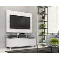 """Rack Com Painel Home Buzios 1,2 M Para Tv 48"""""""" Branco Branco"""