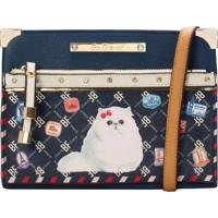 Minibolsa Be Forever Cat Passport Azul Marinho
