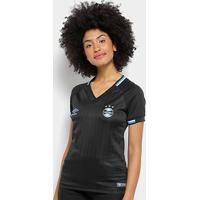 Camisa Grêmio Iii 2018 S/N° Torcedor Umbro Feminina - Feminino