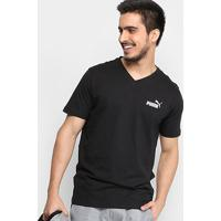 Camiseta Puma Ess+ V Neck Masculina - Masculino