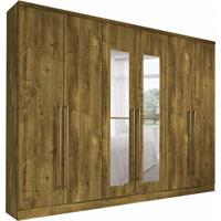 Guarda-Roupa Casal Com Espelho Premium 6 Pt Ipê Rustic