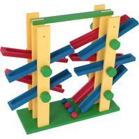 Equilibrando 2X2 Mdf 4 Bolinhas Colorido Carlu Brinquedos - Carlu - Kanui
