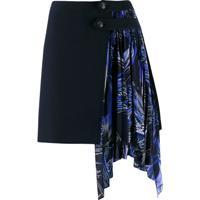Givenchy Minissaia Com Detalhe Drapeado - Azul