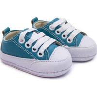 Tênis Bebê Baby Way Com Cadarço Feminino - Feminino-Azul