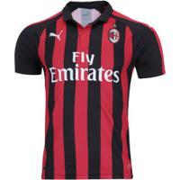 Camisa Milan I 18 19 Puma - Masculina - Vermelho Preto b7b666c0cdd