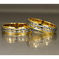 Aliança Saturno Em Ouro - As0508