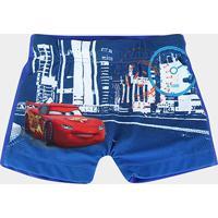 Sunga Infantil Tip Top Boxer Carros - Masculino-Azul