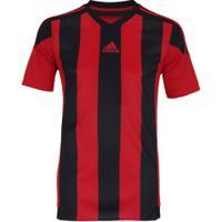 Camiseta Adidas Striped - Masculina - Vermelho Preto 62863bfc41bc9
