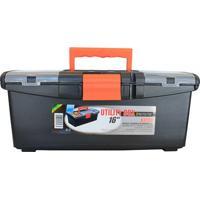 """Caixa De Ferramentas Com Organizador Utilily Box 16"""" Preta"""