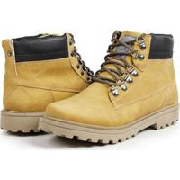 Bota Coturno Casual Masculino Top Franca Shoes - Masculino-Mostarda