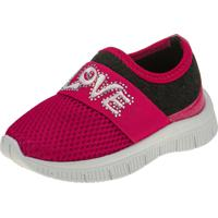 Tênis Jogging Joys Shoes Calce Fácil Baby Love Pink/Preto