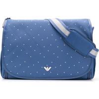 Emporio Armani Kids Bolsa Maternidade Com Logo Estampado - Azul