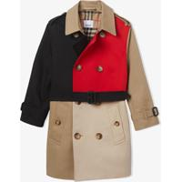 Burberry Kids Trench Coat Color Block - Neutro