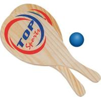 Raquete De Frescobol 02 Raquetes E 01 Bolinha - Jottplay