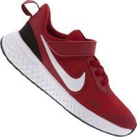 Tênis Nike Revolution 5 Psv Feminino - Infantil - Vermelho/Branco
