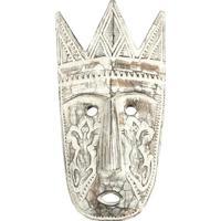 Máscara Com Coroa 48Cm | Branco Pátina