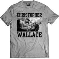 Camisa Skull Clothing Christopher Wallace Masculina - Masculino-Cinza